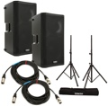 QSC K12 Speaker Pair with Stands and Cables