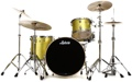 Ludwig Keystone X Pro Beat Shell Pack 3-piece - Yellow Glitter