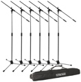On-Stage Stands MS7701C Tripod Microphone Stand Package - 6 Stands + 1 Bag, Chrome