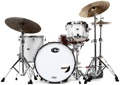 Stone Custom Drum Company Niles 5-ply Maple/Poplar 3-piece Shell Pack - White Pearl - 22