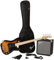 Squier Precision Bass Pack with Rumble 15 Amplifier - Brown Sunburst