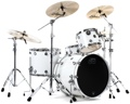 """DW Performance Series 4-piece Rock Shell Pack With Snare Drum - 22"""" - White Ice Lacquer"""