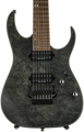 Ibanez RG 927 Premium, Sweetwater USA Exclusive - Transparent Black Flat, Buckeye Burl