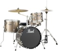 Pearl Roadshow 4pc Drum Set with Wuhan Cymbals - Bronze Metallic