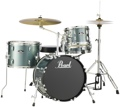 Pearl Roadshow 4pc Drum Set with Wuhan Cymbals - Charcoal Metallic