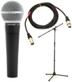 Shure SM58 Handheld Microphone with Stand and Cable