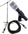 Shure SM86 Handheld Microphone with Stand and Cable