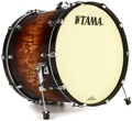 Tama Starclassic Maple Bass Drum - 18x24 - Satin Molten Brown Burst