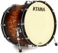 Tama Starclassic Maple Bass Drum - 18x24 - Satin Molten Brown Burst