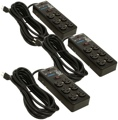 Furman SS-6B 6-outlet Power Strip 3-pack