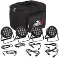 Chauvet DJ SlimPACK Q12 USB 4 x RGBA PAR Package w/ Cables, Bag