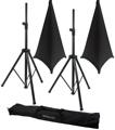 Gator Frameworks 3000 Speaker Stand, Bag and Cover Package - Black