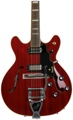 Guild Starfire V with Guild Vibrato - Transparent Cherry Red