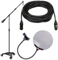 Sweetwater Studio Mic Stand, Quad Cable, Pop Filter Package - w/Ultimate Support, sE Electronics, and Pro Co