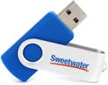 Sweetwater 8GB USB 2.0 Flash Drive - Blue