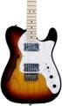 Fender '72 Telecaster Thinline - 3-color Sunburst with Maple Fingerboard