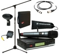 Sennheiser XSW 35 Handheld Wireless Microphone System with Stand, Case, and Cable