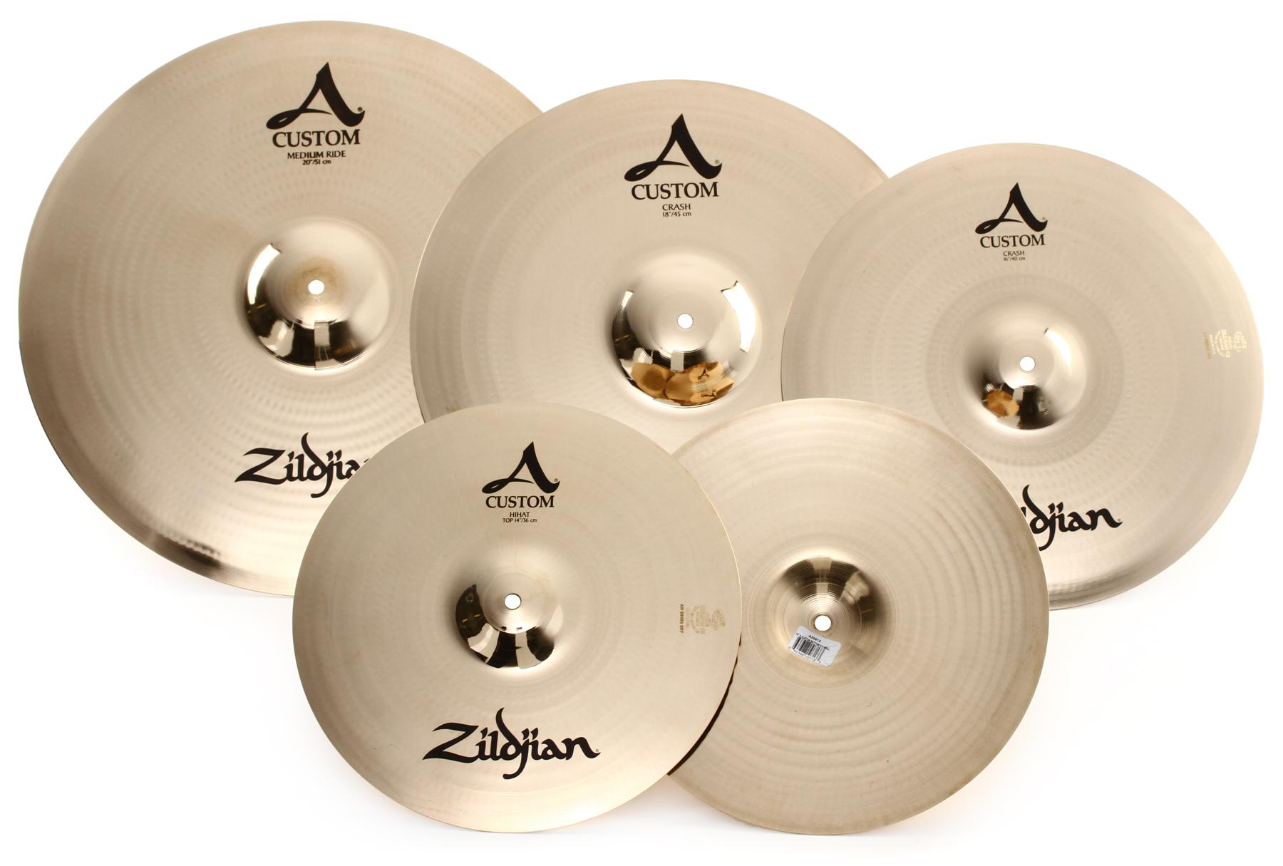 5. Zildjian A Custom Cymbal Set