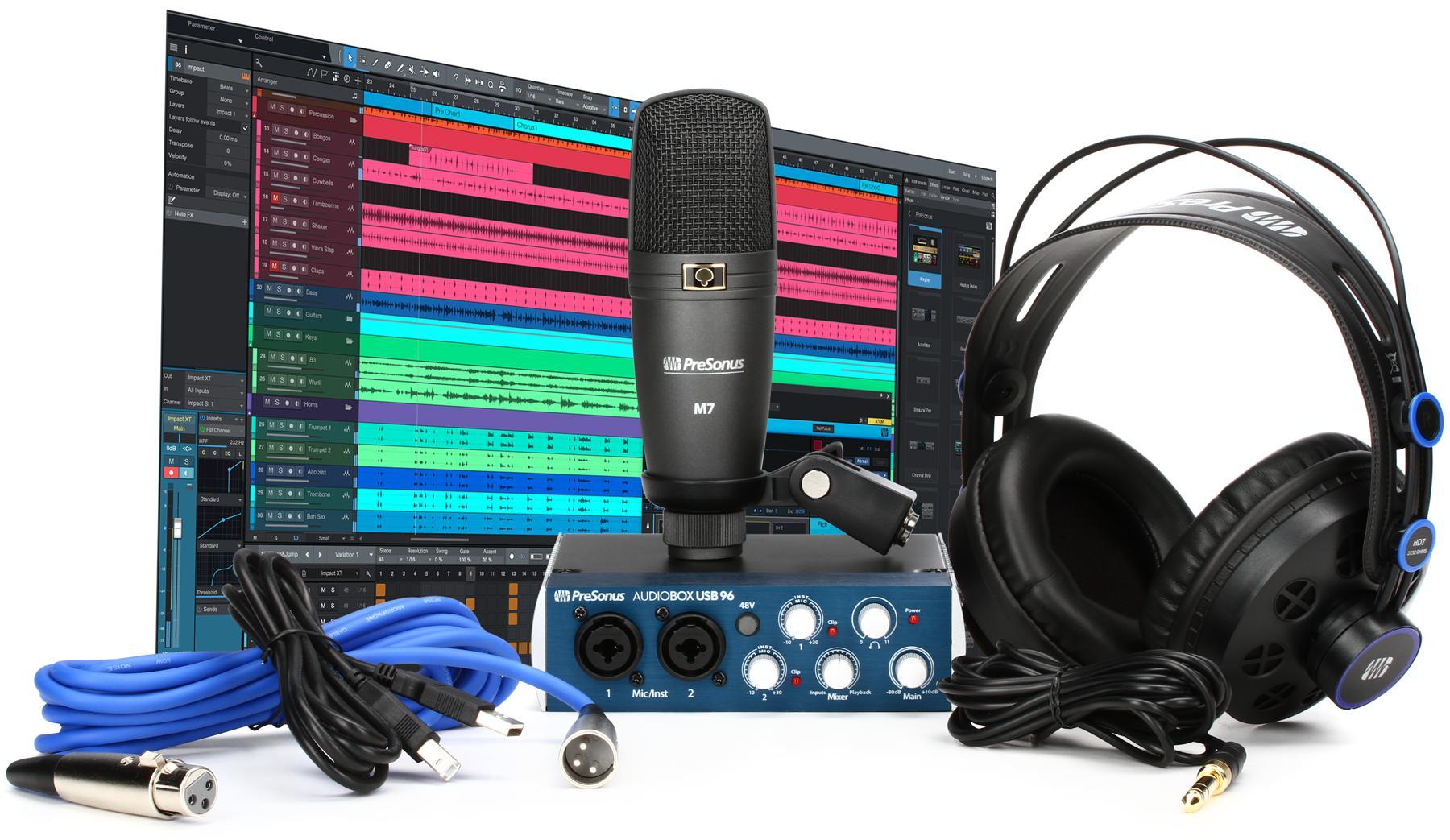 2. PreSonus AudioBox 96 Studio USB 2.0 Recording Bundle