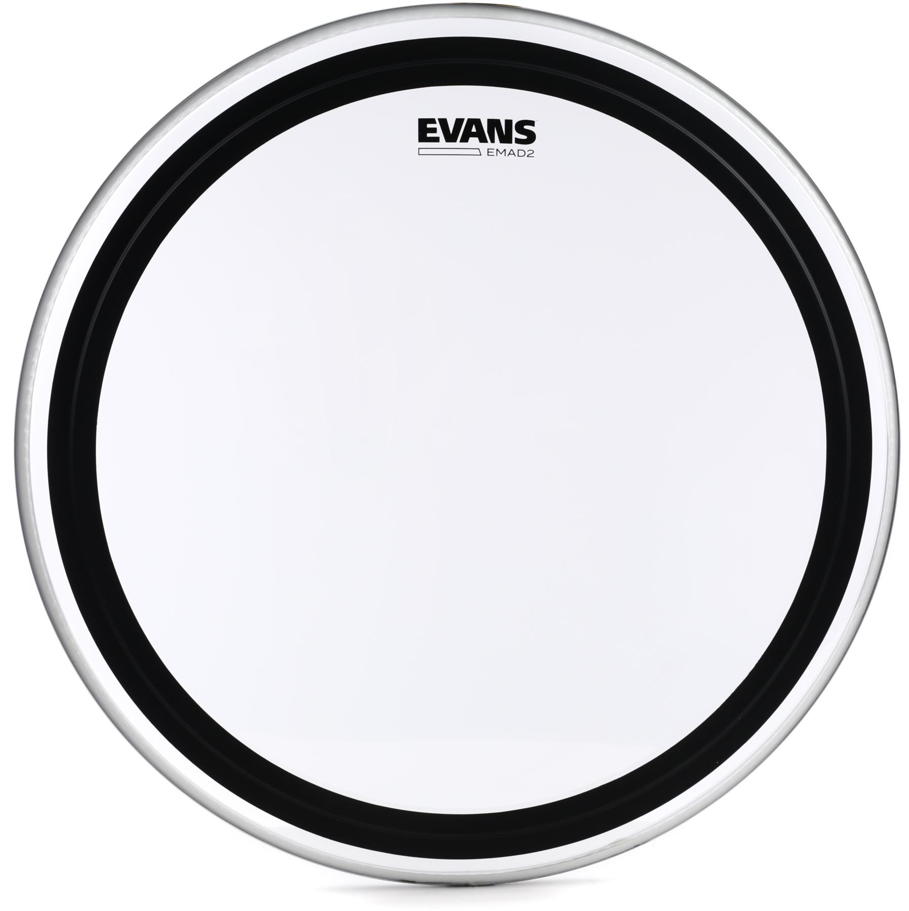 6. Evans EMAD2 Clear Bass Drum Head