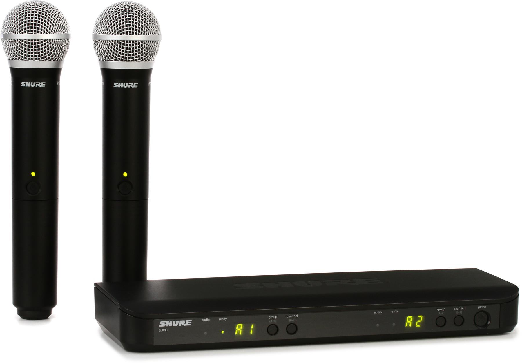 1. Shure BLX288/PG58 Dual-Channel Wireless System