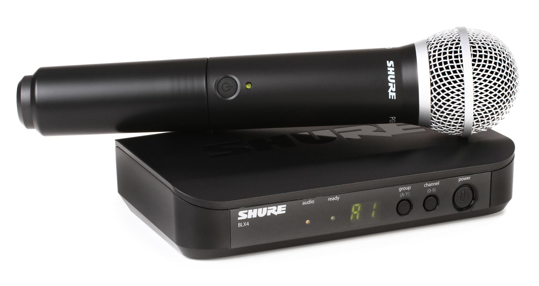 4. Shure BLX24 Handheld Wireless System With PG58 Capsule