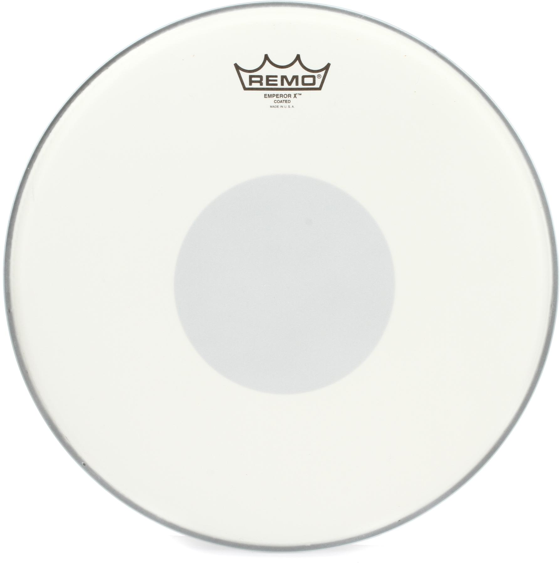 1. Remo Emperor X Coated Snare Drum Head