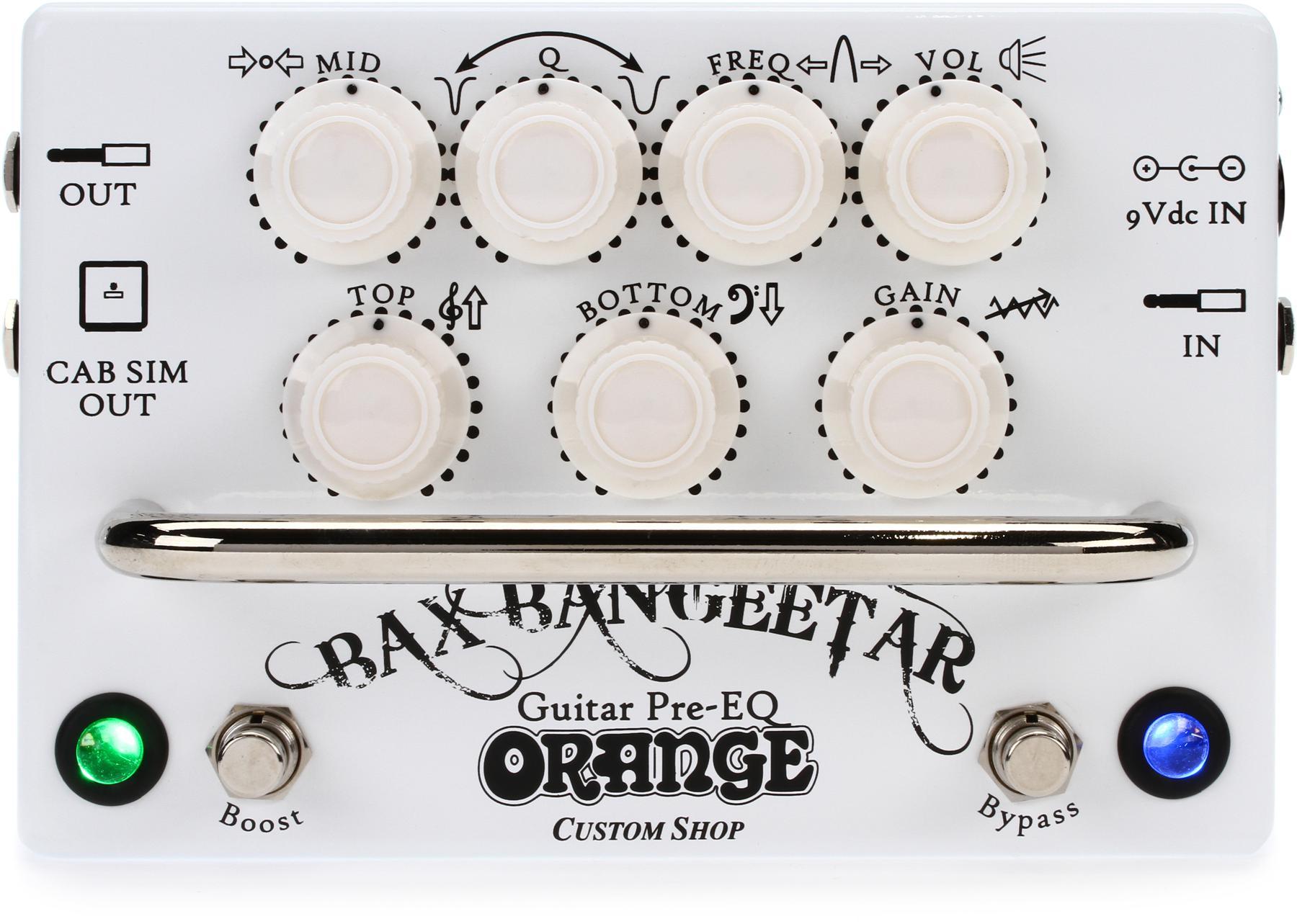 5. Orange Bax Bangeetar Guitar Pre-EQ Pedal – White