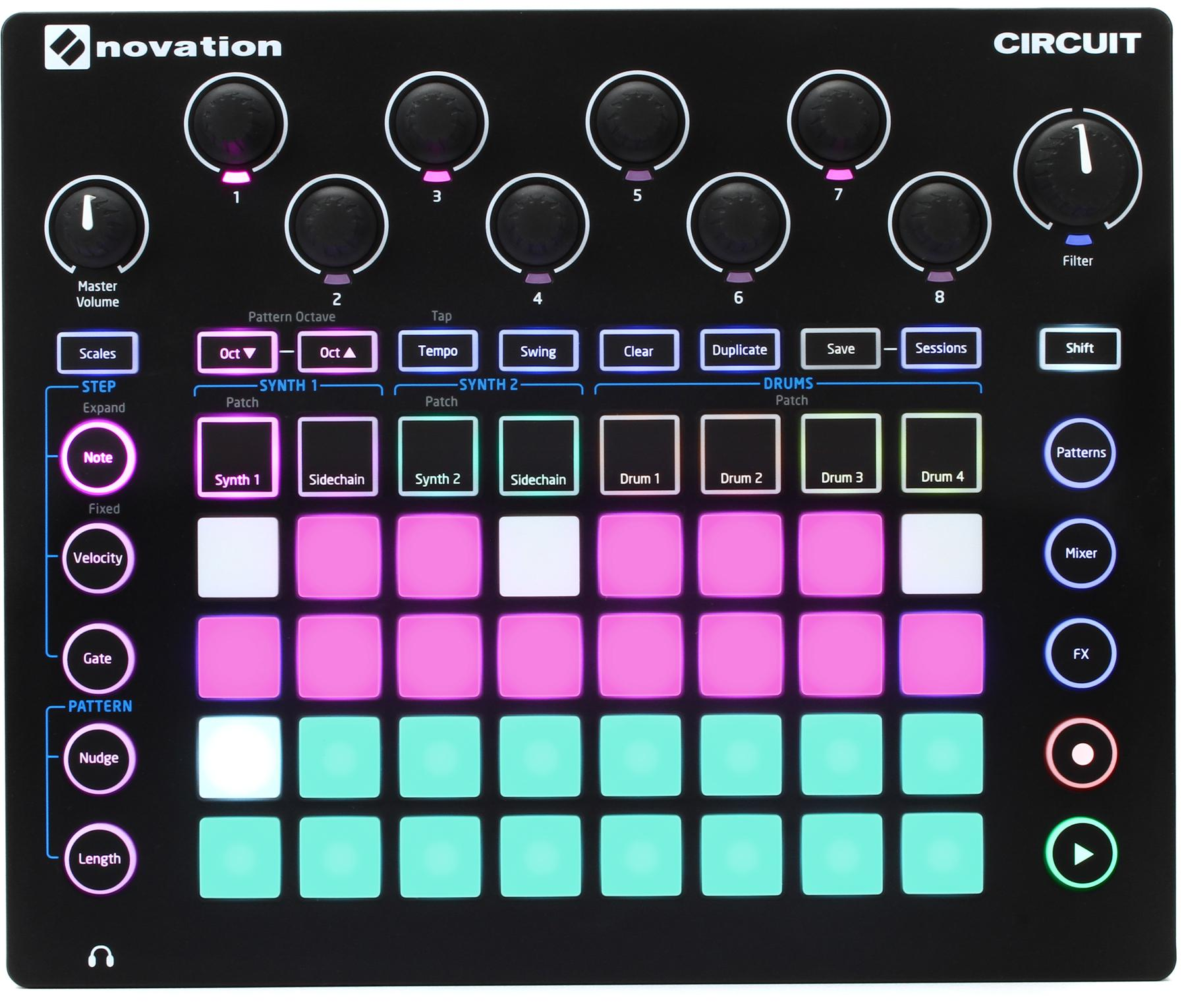 1. Novation Circuit Groovebox with Sample Import