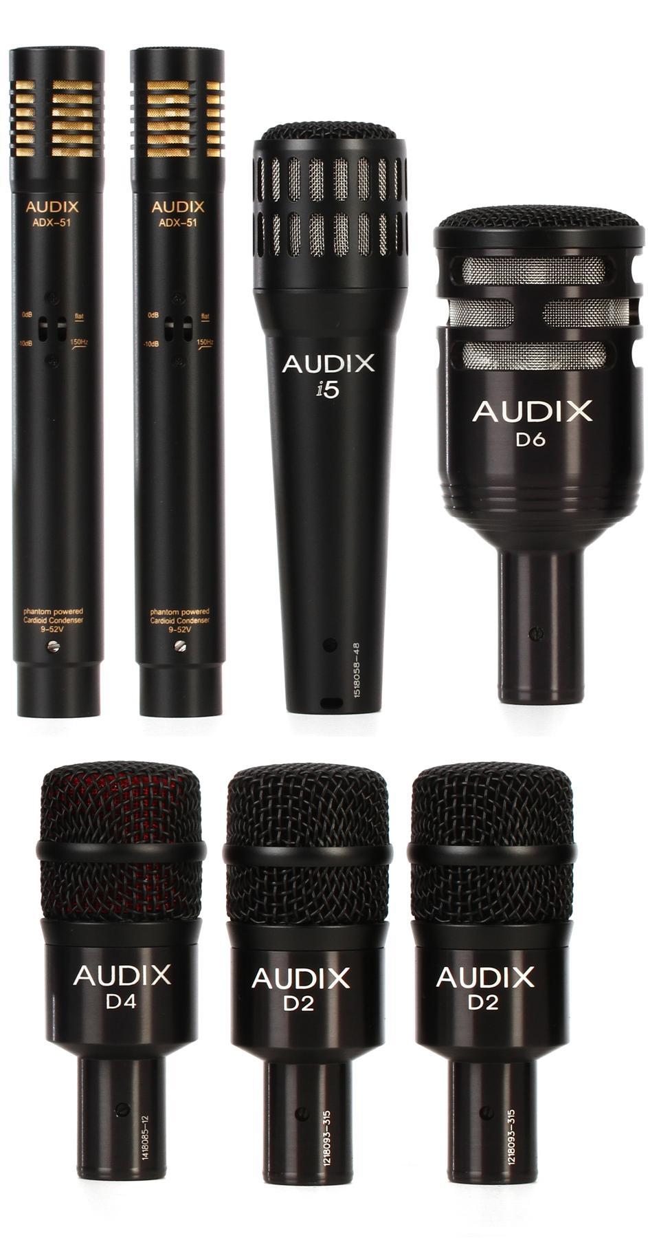 1. Audix DP7 Drum Microphone Set