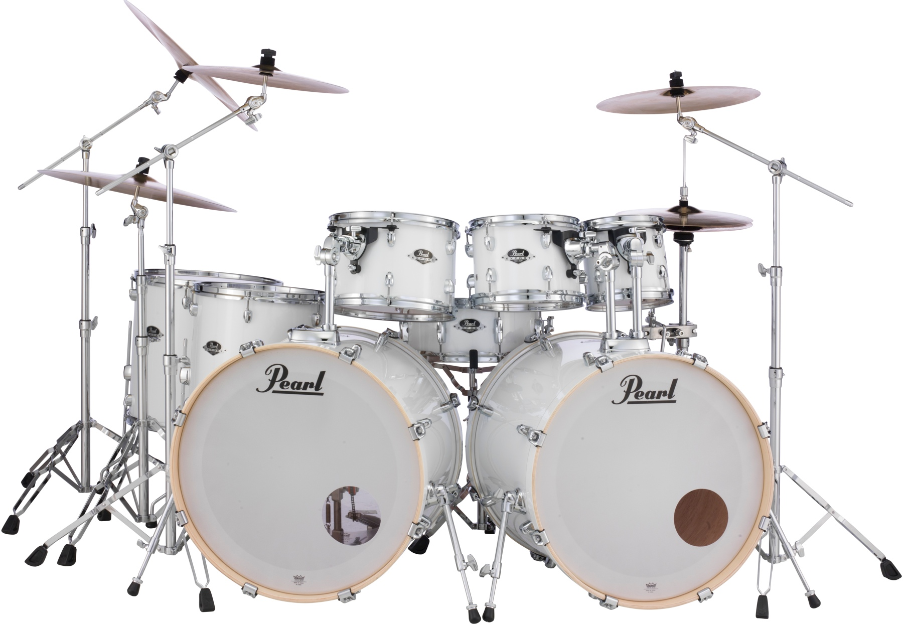 1. Pearl Export EXX 8-piece Double Bass Drum Set with Hardware - Pure White