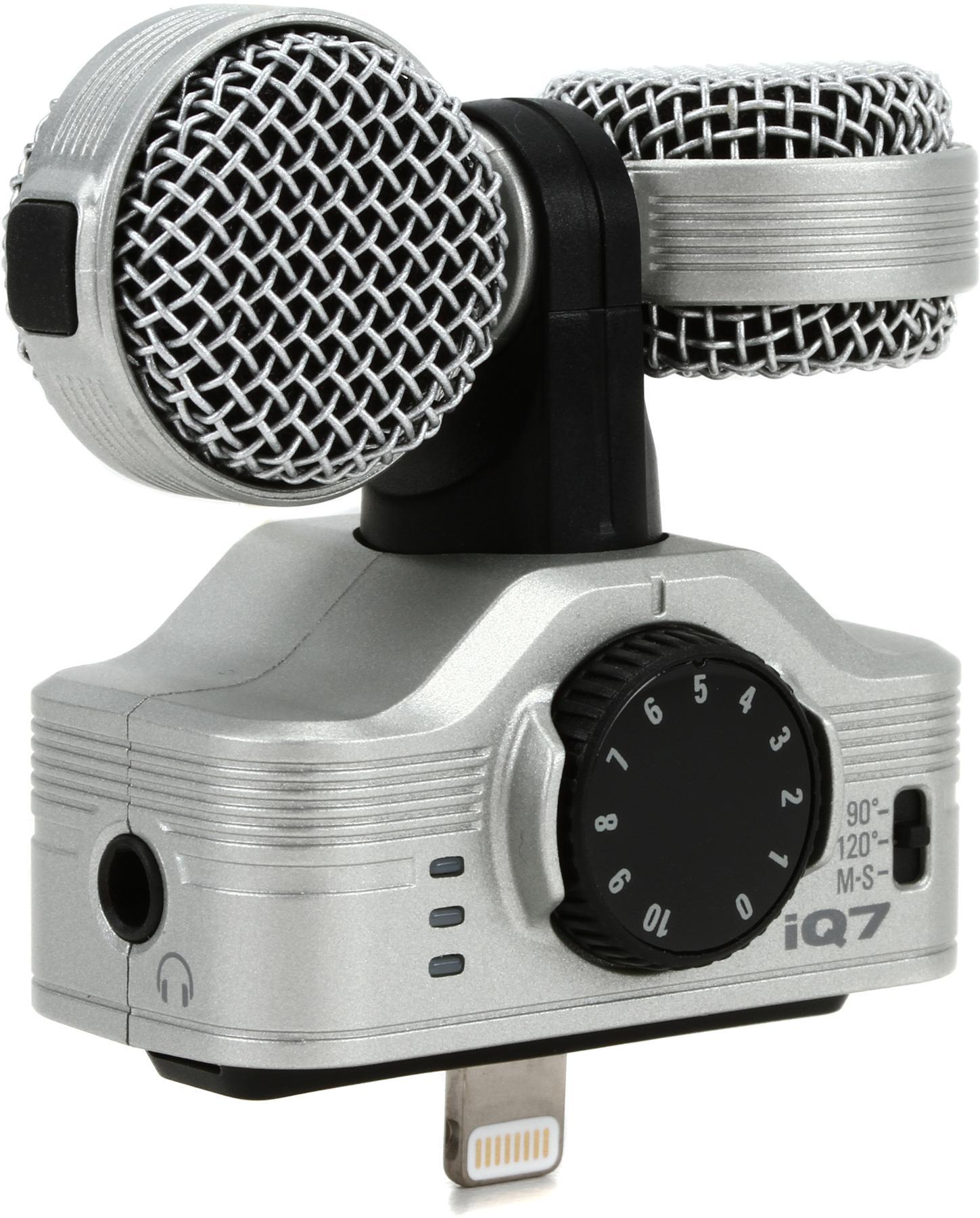 4. Zoom iQ7 Rotating Mid Side Stereo Capsule