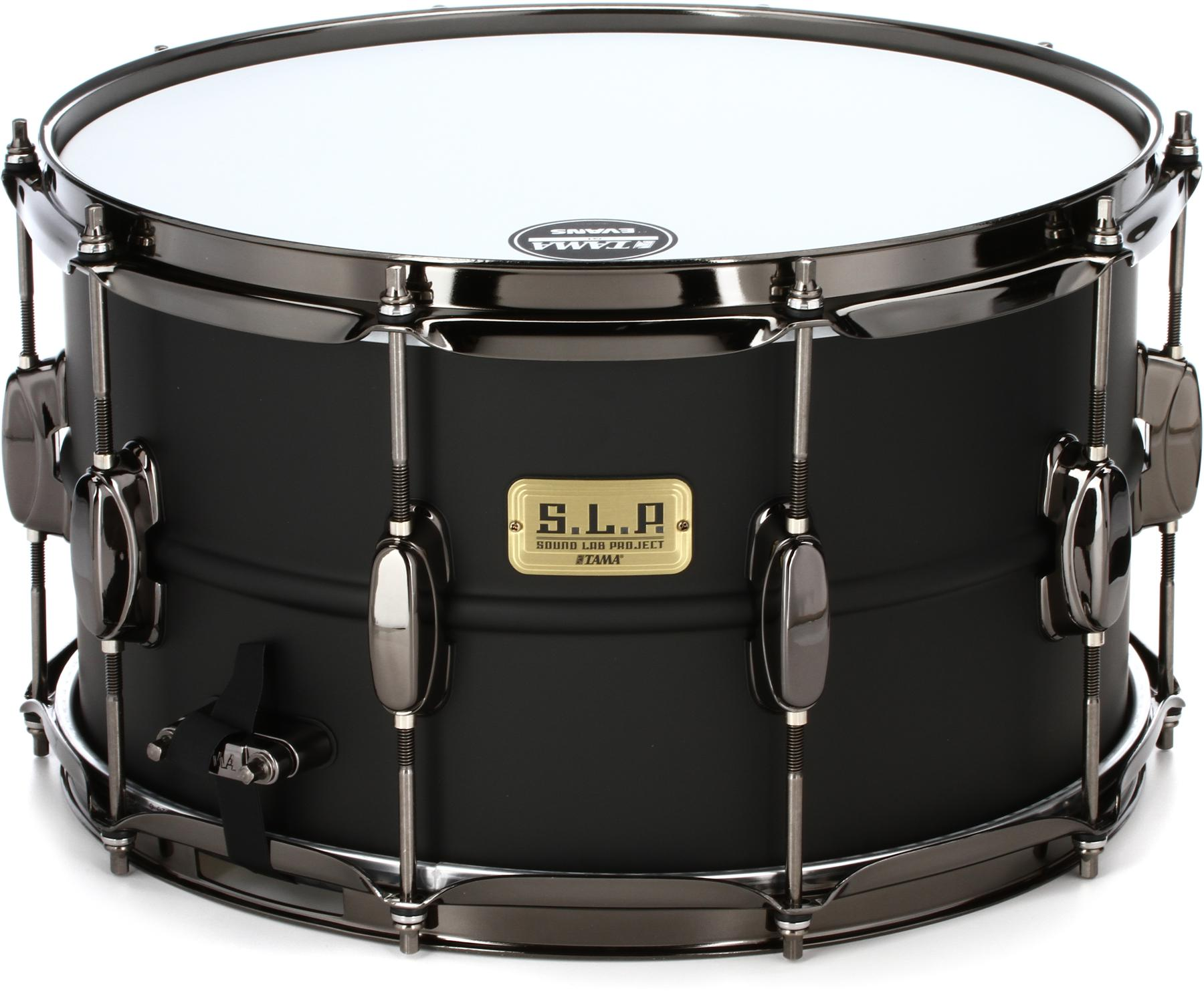 3. Tama S.L.P. Big Black Steel Snare Drum 14 x 8 in