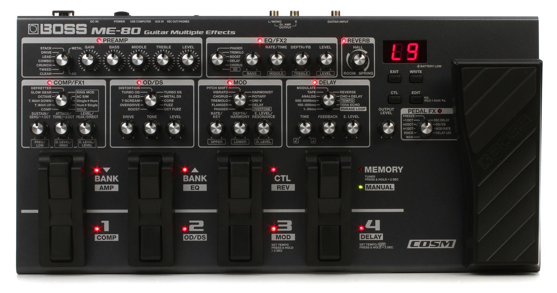 2. Boss ME-80 Multi-Effects Pedal