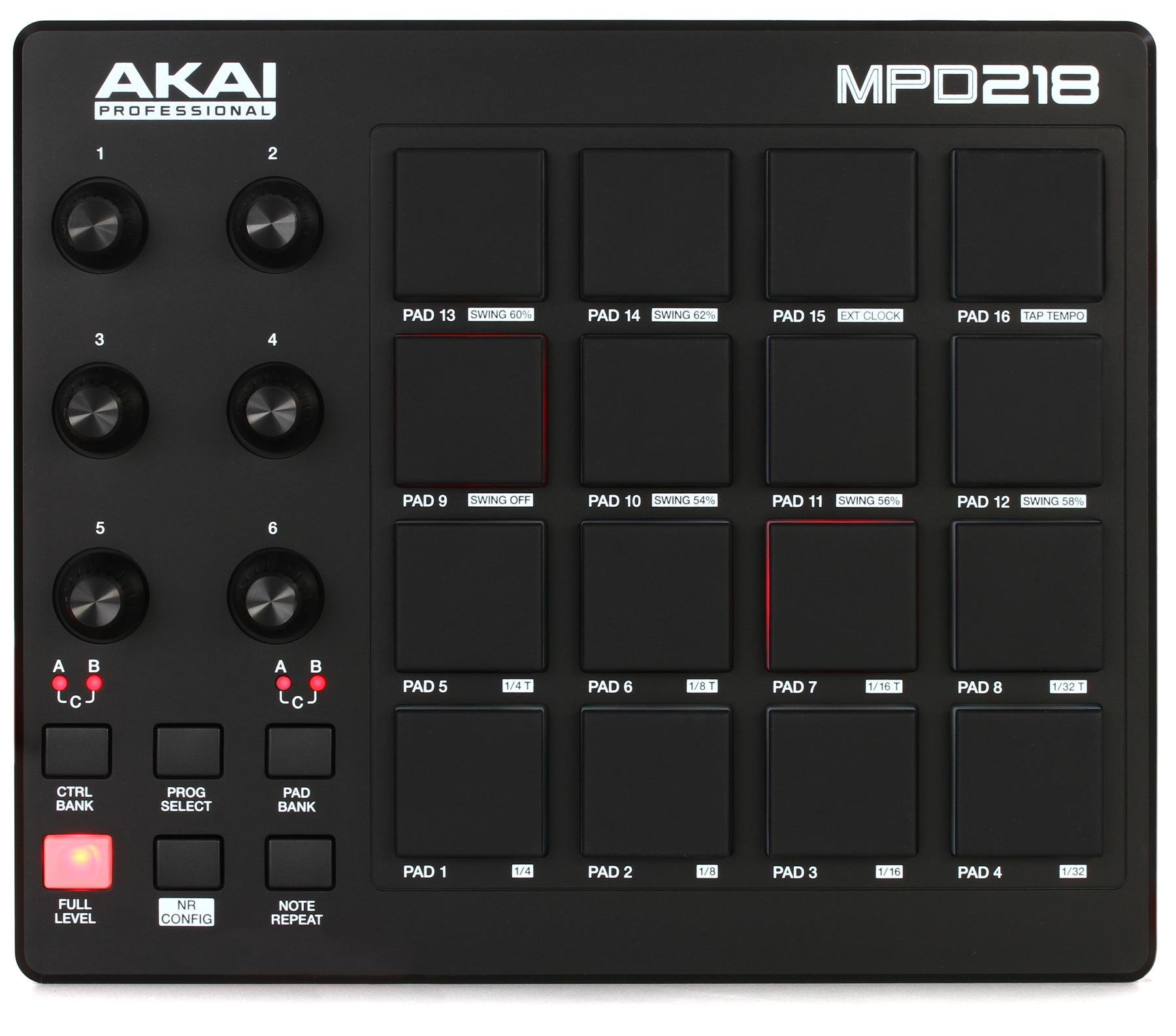 1. Akai Professional MPD218