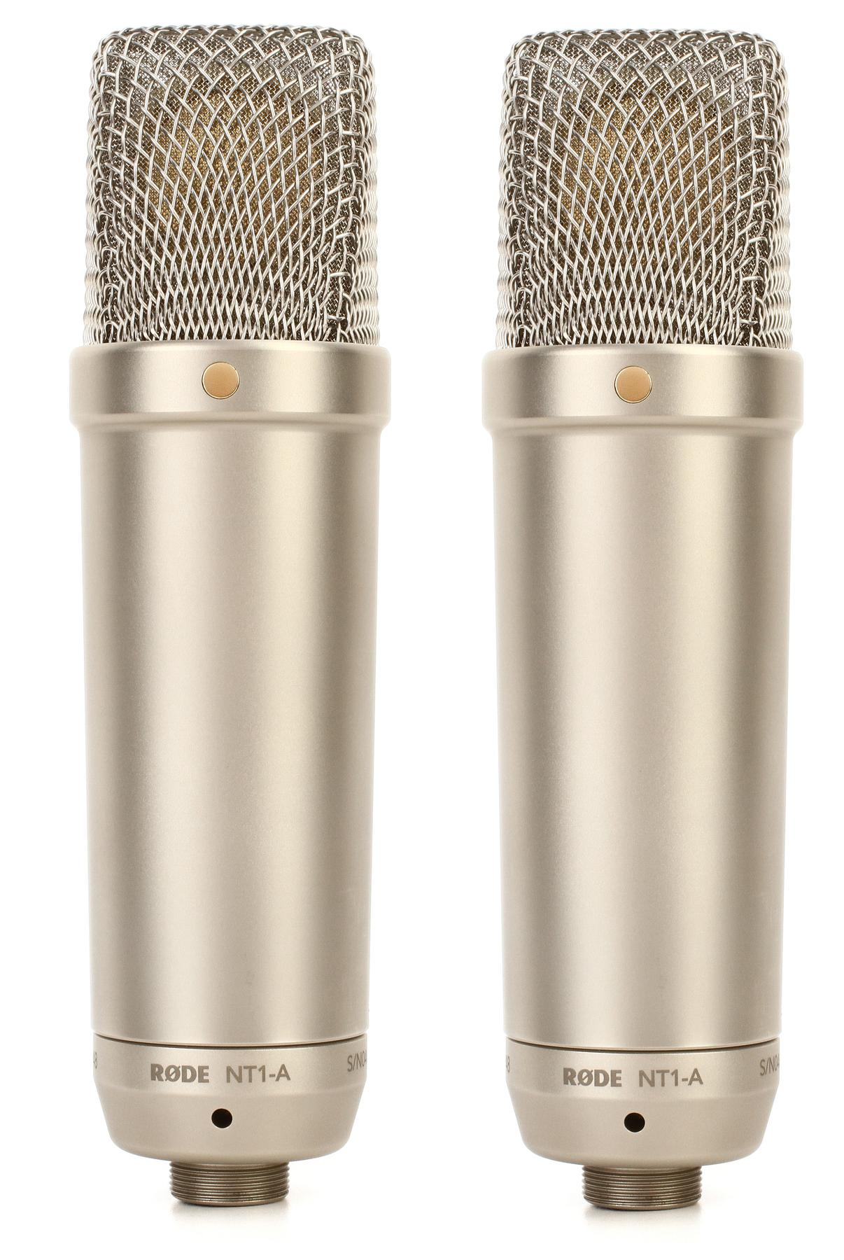 3. Rode NT1-A-MP Stereo Studio Vocal Cardioid Condenser Microphones, Matched Pair