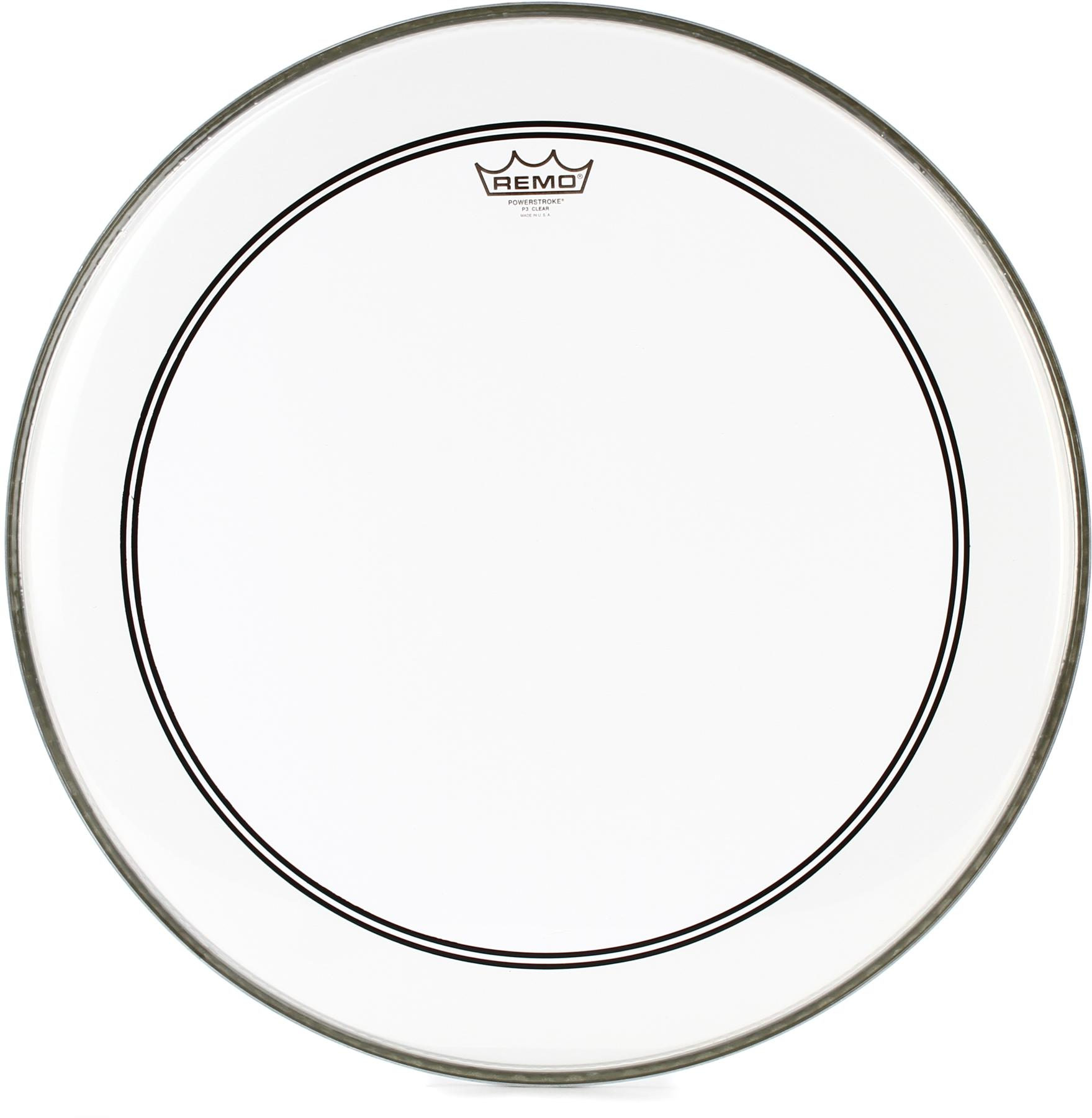 7. Remo Powerstroke P3 Clear Bass Drumhead