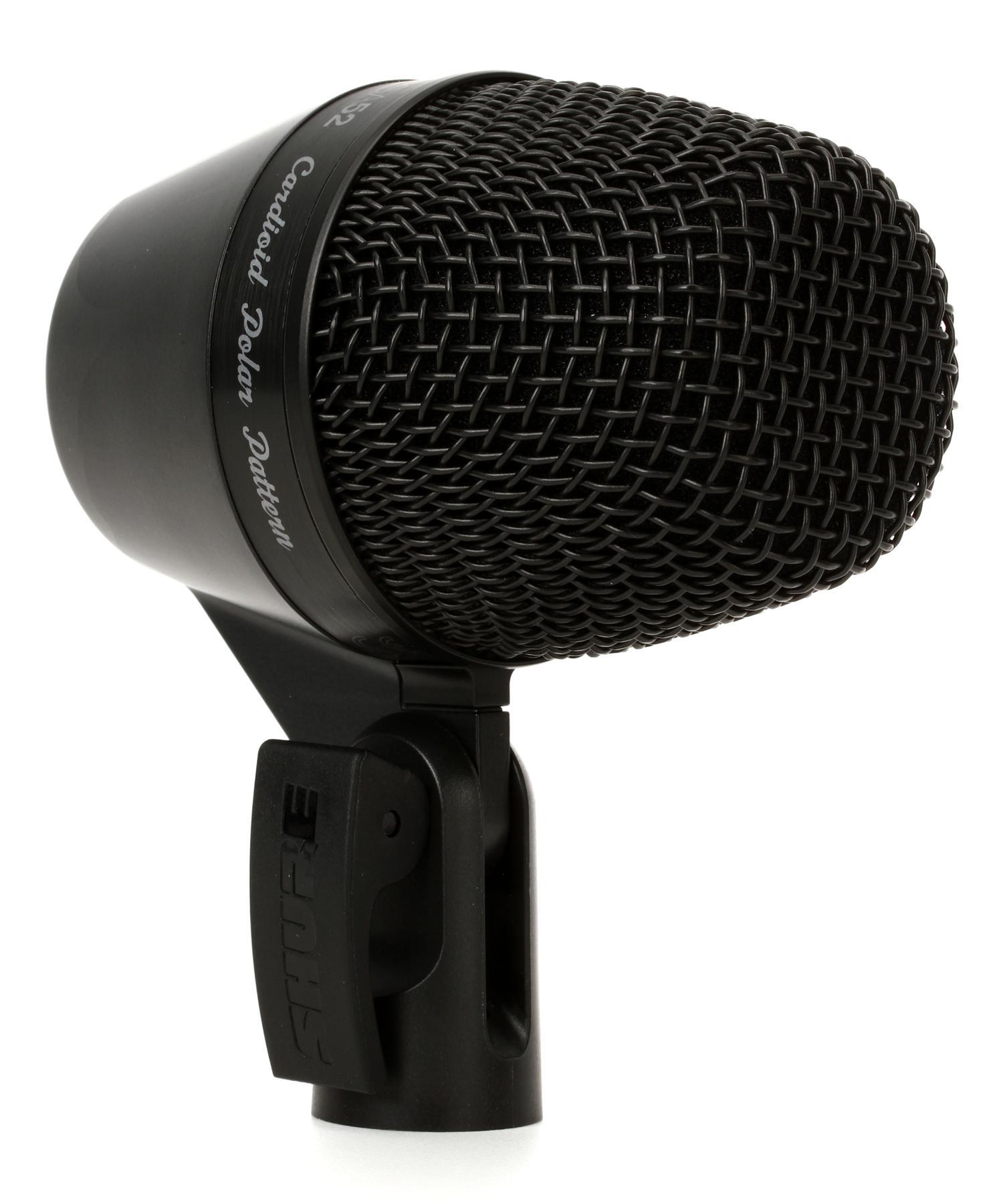 4. Shure PGA52-XLR Cardioid Kick-Drum Microphone