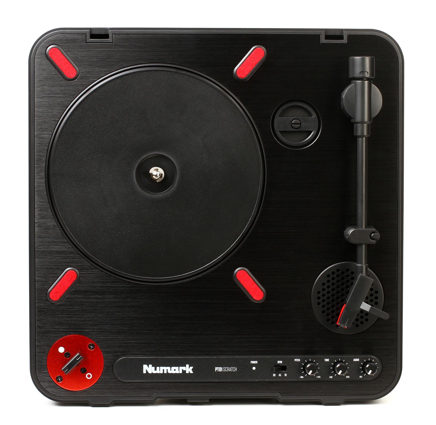 1. Numark PT01 Scratch Portable DJ Turntable