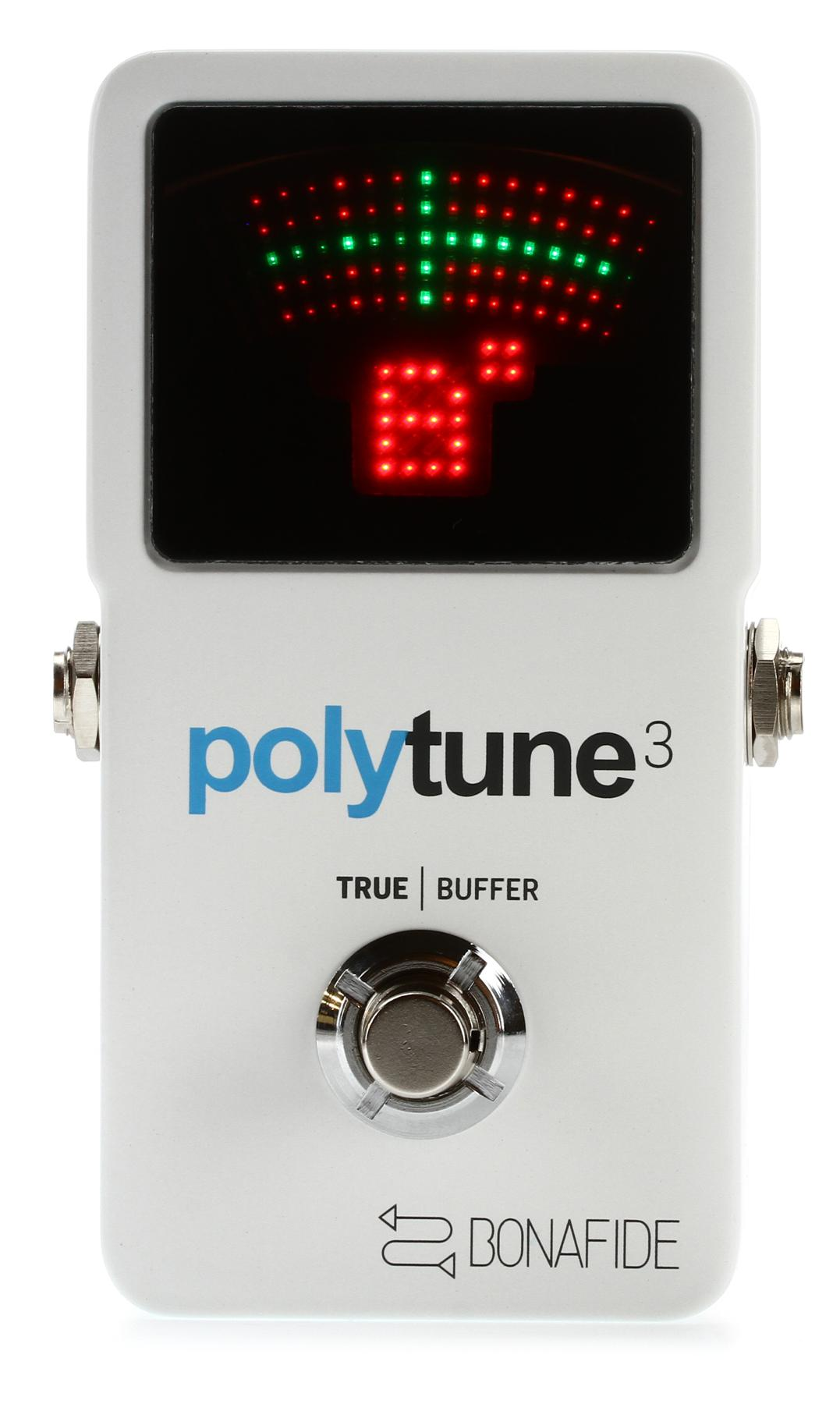 7. TC Electronic PolyTune 3 Polyphonic LED Guitar Tuner Pedal w/Buffer