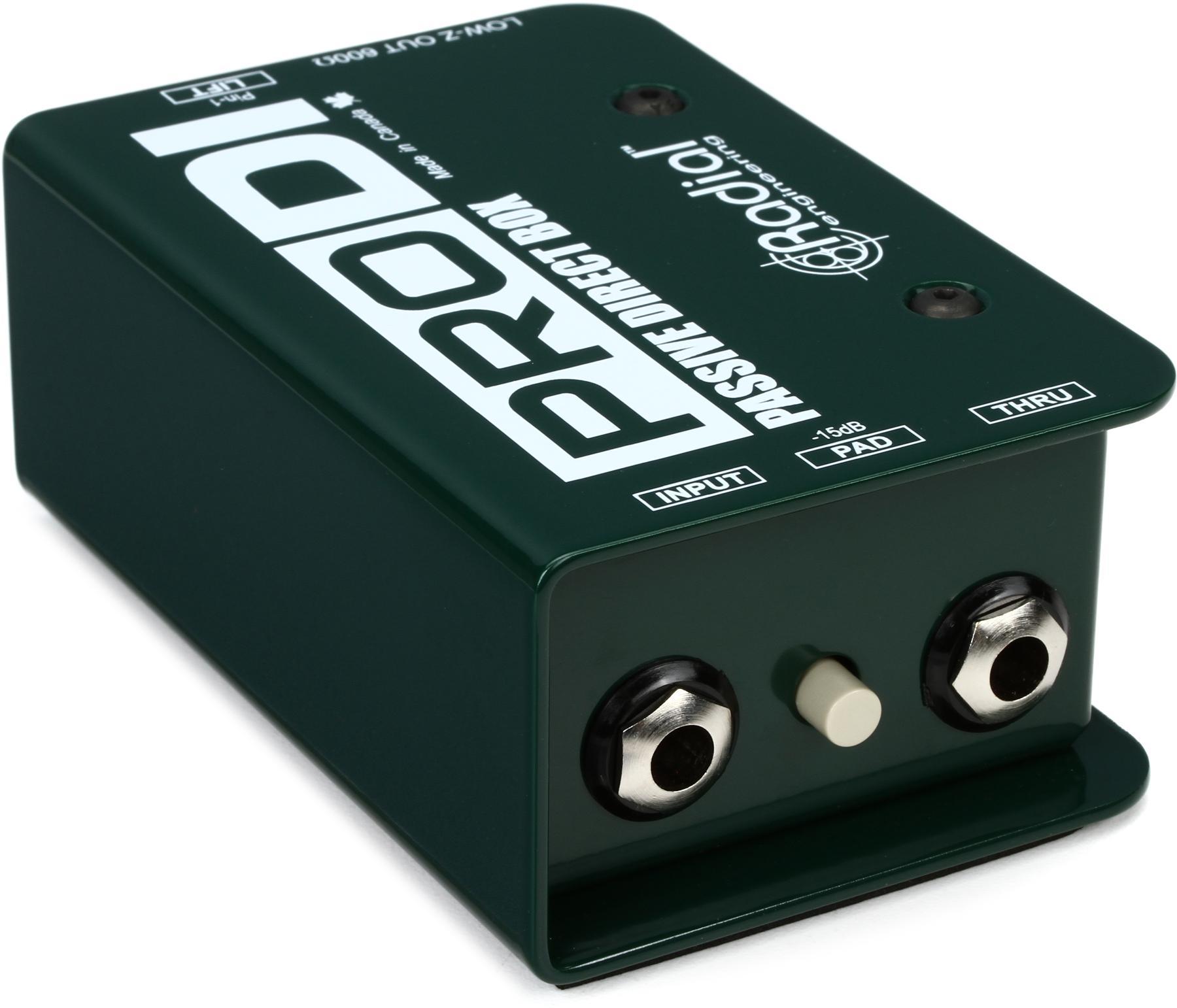 (Passive DI Box) Radial ProDI 1-channel Passive Instrument Direct Box