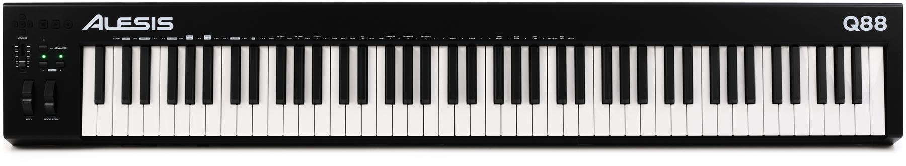 1. Alesis Q88 | 88-Key USB/MIDI Keyboard