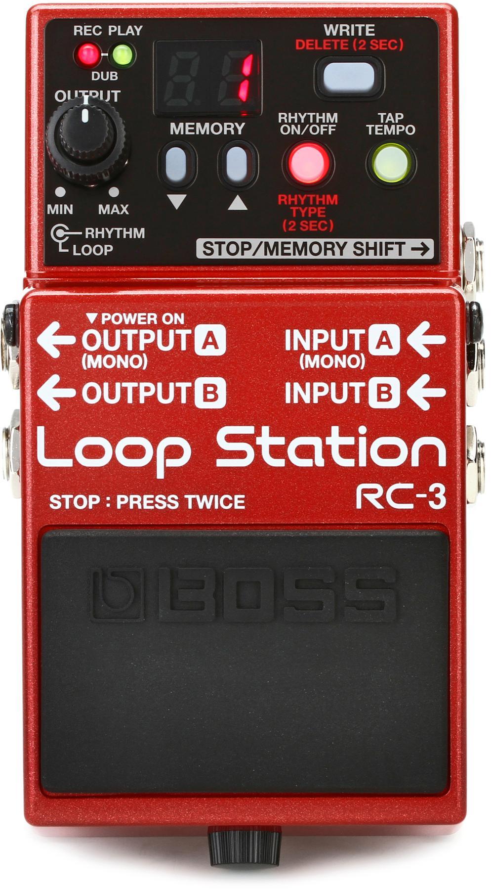 1. BOSS Audio RC-3 Loop Station Pedal