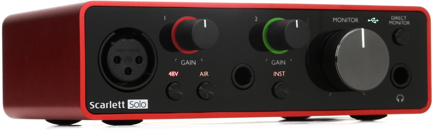 1. Focusrite Scarlett Solo 3rd Gen USB Audio Interface