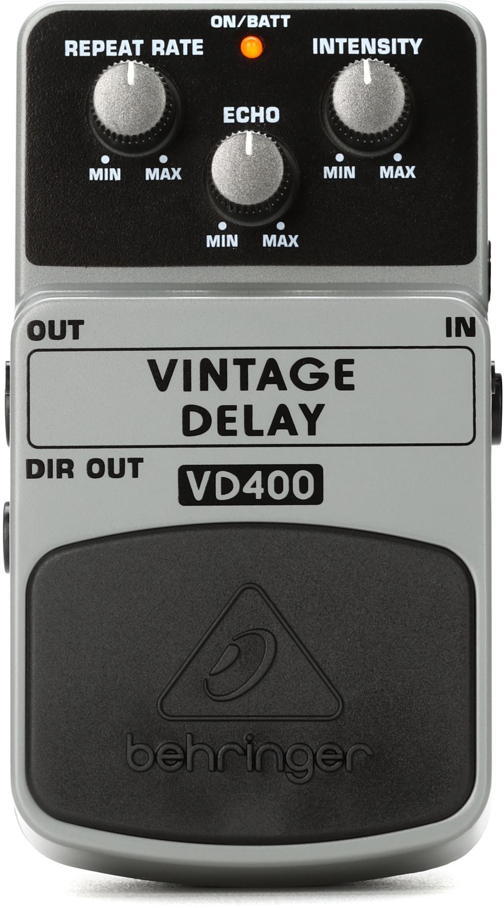 2. Behringer VD400 Vintage Delay Pedal