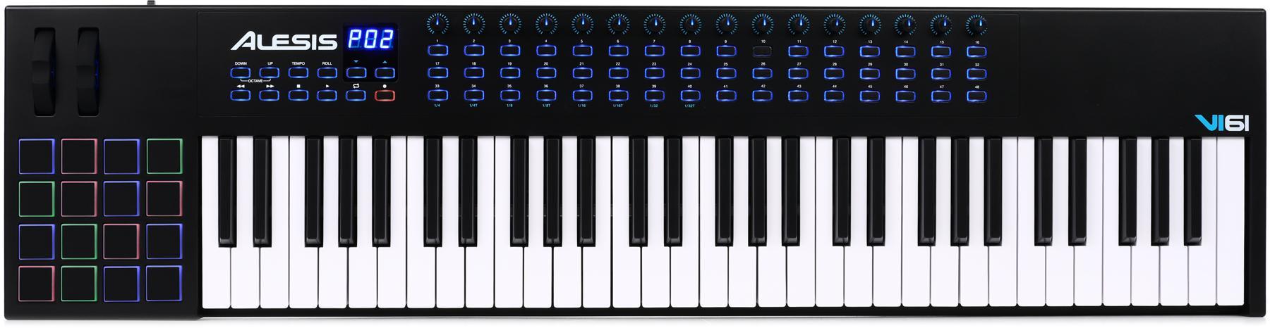 7. Alesis VI61 | 61-Key USB MIDI Keyboard