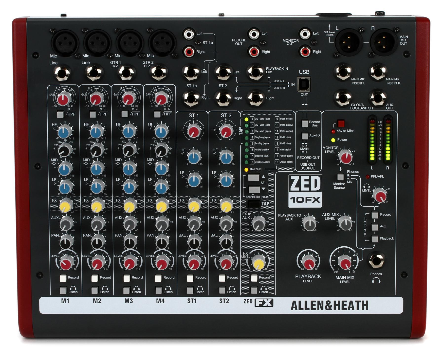 1. Allen & Heath ZED-10FX
