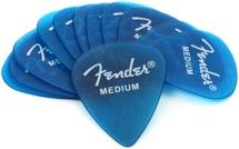 Fender Accessories California Clears Pickpack - Medium - Lake Placid Blue - 12-Pack