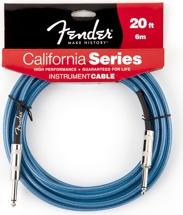 Fender California Cable - 20', Lake Placid Blue