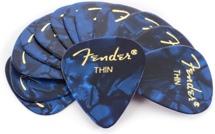 Fender Accessories 351 Premium Guitar Picks - Thin Blue Moto - 12-Pack